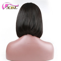 Wholesale european human hair prices for sale - xblhair lace front bob wigs human hair price with middle part straight human hair wig