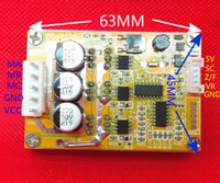 ingrosso autista 12v-Freeshipping 350W 5v-36V DC Controller motore brushless BLDC Scheda driver trifase 12V 24V con dissipatore di calore