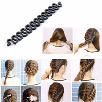 Wholesale hair weaving tools resale online - 5pcs Women Lady Hair Braiding Braider Tool Roller With Hair Twist Styling Maker Girl Accessories Tool To Weave Headdress