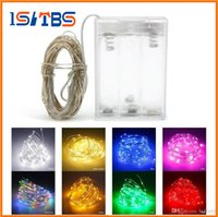 Wholesale wire for net curtains resale online - Christmas M led battery operated led string light LED copper wire fairy lights for Holiday Wedding Party christmas lights drops