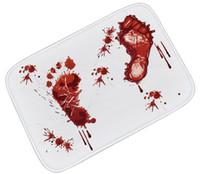 tapis d'empreinte achat en gros de-Tapis d'empreinte de sang britannique Tapis anti-dérapant Pédale créative Tapis tachés de sang Tapis de porte en polyester pour salle de bain Salle de séjour