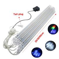 Wholesale led rain strips for sale - Group buy Set Snowfall LED Strip Light Christmas Light Rain Tube Meteor Shower Rain LED Light Tubes V EU US Plug