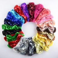 arcos de pelo de navidad para niños pequeños al por mayor-22 Color de la banda de Navidad arco nuevo pelo del bebé venda de la flor de plata de la cinta del pelo hechas a mano accesorios para el cabello DIY para los niños niño recién nacido