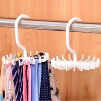 Wholesale rotating clothes rack for sale - Portable quot Plastic Colors Tie Rack Closets Rotating Hook Holder Belts Scarves Hanger Clothing Organizer