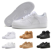 entraîneur d'air faible achat en gros de-Nike Air Force 1 AF1 shoe Designer One 1 Dunk Hommes Femmes Flyline Chaussures De Course, Chaussures De Skateboarding Haut Bas Coupe Noir Blanc Blé Baskets Baskets 36-45