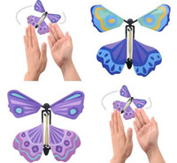 Wholesale paper butterfly toy - High Quality New magic butterfly flying butterfly change with empty hands freedom butterfly magic props magic Children Toys