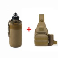 Wholesale football water bottles - Best-selling outdoor sports water bottle, thermos cup, outdoor sports kettle, tactical water bottle, outdoor sports bag, single shoulder bag