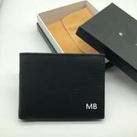 billetera de fotos de alta calidad al por mayor-Cartera de negocio de moda de patrón de los nuevos hombres corto clip de MT Cartera de regalo de lujo de MB titular de la tarjeta de crédito M B billetera de alta calidad