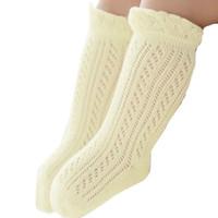 ingrosso vs calze-BMF TELOTUNY 2018 Fashion Baby Girl maglia maglia cotone casual carino bambini alti calzini Apr10 Drop Ship