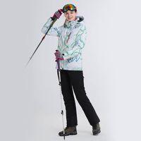 ingrosso super giacca impermeabile-Le donne LANLAKA Sci Suit Snowboard Jacket Pant Inverno Abbigliamento Sport Outdoor indossare sci Super Warm Coat Pant antivento impermeabile