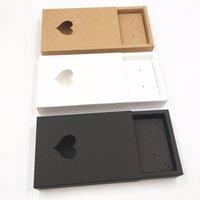 halsketten papier box großhandel-20 sätze Kraftpapier Schublade Liebe Schmuckschatullen Leere Halskette / Ohrring / Zubehör Tragetasche Papier Lagerung Geschenkboxen