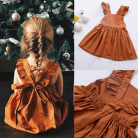 Wholesale smoke clothes online - Ins Summer New Girl Dress Hot Sale Baby Girls Smoking Dress Princess Dresses Kids Clothes Fast Shipping