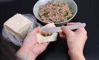 Wholesale diy gadgets resale online - Stainless Steel Dumpling Stuffing Spoon Wavy Lines Fish Pattern Bone Paste Steamed Stuffed Bun Spoon DIY Kitchen Gadgets