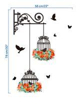 kinder freie tapete großhandel-Vogelkäfig dekorative Malerei Schlafzimmer Wohnzimmer TV Wand Dekoration Wand Aufkleber Wandbild Baby Zimmer Tapete für Kinderzimmer frei s