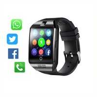 ingrosso telefoni di grande schermo-Bluetooth Smart Watch Men Q18 con touch screen grande supporto per batteria TF Sim Card per Android Phone Smartwatch
