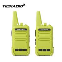 icom cable de programación usb al por mayor-2pcs / sets Green Mini Walkie Talkie para Niños TD-M9 Portable CB Radio TIDRADIO Walkie Talkie para Niños