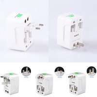 Wholesale world travel universal power adapter for sale - Group buy All In One Universal International Plug Adapter Port World Travel AC Power Charger Adapter With AU US UK EU Converter Plug
