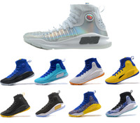Wholesale Fall Color Trends - 2018 new color men's training basketball shoes Curry 4 trend brand-name shoes retail, air-cushion bottom comfortable free shipping