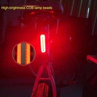 ingrosso usb della coda della bici-Fanale posteriore impermeabile LED COB LED Mountain Bike Fanale posteriore MTB Sicurezza Avvertimento Luce posteriore per bicicletta