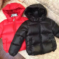 Wholesale baby clothes for boys - 2018 down jackets Winter down jacket parka for girls boys coat children s clothing for snow wear zipper BABY outerwear coats