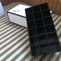 Wholesale plastic for jewelry making for sale - Group buy Luxury grids black Acrylic storage lipsticks holder Make up brush Storage Case Jewelry fashion Organizer for desktop VIP gift With box