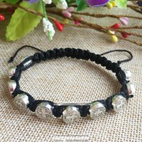 ingrosso perline di braccialetti religiosi-bracciale religioso in lega metallica, bracciali cattolici, bracciale rosario con st. Benedetto