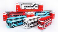 oyuncak otobüsleri toptan satış-Alaşım Araba Modeli Oyuncak, Londra Işık Ses ile Iki katlı Otobüs, Geri Çekme, Yüksek Simülasyon, Parti Kid için 'Doğum Günü' Hediye, Koleksiyon, Dekorasyon