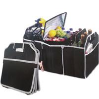 Wholesale wholesale car trunk organizer for sale - Foldable Fabric Non woven Car Organizer car trunk Toy Food Container Box Bag Storage Trunk Box Portable Bag Storage Case color FFA110