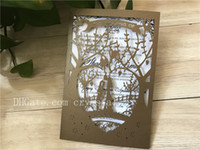 Wholesale engagement invitations cards lace resale online - Pearl Brown Laser Cut Invitation Lace Laser cut Wedding Invitation Invitation Cards Engagement Invitation Cards Wedding Shower Card
