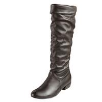 kadınlar için kahverengi düz çizmeler toptan satış-Büyük boy 2018 yeni gelmesi Diz yüksek Kadın Çizmeler Siyah Beyaz Kahverengi düz topuklu yarım çizmeler ilkbahar sonbahar ayakkabı kadın