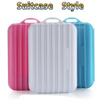 Wholesale iphone fashion logo - Power Bank 8800Mah Fashion suitcase 1U Mini Phone Charger Portable External Battery can make LOGO for iPhone Android mobile phone Tablet PC