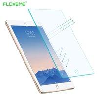 ingrosso protettore corpo aria-Pellicola proteggi schermo in vetro temperato per iPad Air 2 Pellicola protettiva per ipad Air Protector Pellicola protettiva 1 2