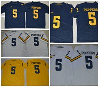 Wholesale elite stitch football jerseys for sale - Group buy Mens Jabrill Peppers College Football Jerseys Cheap Blue Jabrill Peppers Stitched Elite Football Shirts S XXXL