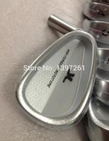 jogo de canhotos venda por atacado-TourOK GOLF-Ferro Esquerdo Mão Set Golf Irons Clubes 3-P (8PCS) frete grátis