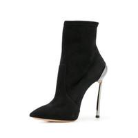 botas de gamuza micro al por mayor-nueva dama gamuza botas sobre la rodilla zapatos de tacones altos bombas tobillo