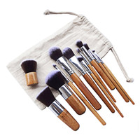 Wholesale Bag Concealer - NEW 11pcs Professional Multifunctional Cosmetic Makeup Powder Foundation Concealer Tool Finishing Brushes Stylish Beauty Kit WITH Pouch Bag