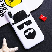 Wholesale iphone 5s cases draw - Cool black sunglasses cosmic man drawing painted soft white iPhone Case For 5 5s se 6 6S 6plus 7 7plus 8 8s plus X customizable dropshipping