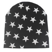 Wholesale crochet baby hat football - 2017 Toddler Kid Girls Boys Baby Winter Warm Crochet Knit Hat Beanies Skullies Stars printed Baby Hat