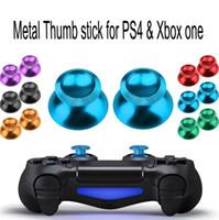 partes de joystick xbox al por mayor-Tapa de joystick de metal de aluminio Cubierta de joystick Botón de tapas de joystick para PS4 XBOX ONE Controlador Piezas de repuesto ENVÍO RÁPIDO de alta calidad