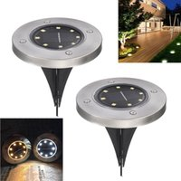 Wholesale solar stainless steel pathway lights resale online - Umlight1688 Solar Lights Outdoor Decorative Pathway Light Work Time hour Bright Garden Path Light Stainless Steel LED Lighting
