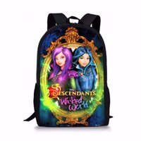 Wholesale Custom School Backpacks - FORUDESIGNS Movie Custom Made Anime mal descendents 2 School Bags Set for Teenager Girl Bookbag and Pencil Bag Primary Bagback