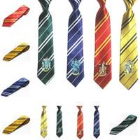 Wholesale novelty badges resale online - Hot Harry Potter Polyester Silk New Tide Arrow Style Necktie Goods in Stock College Badge Tie T7C049