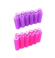 Wholesale magic hair curlers size resale online - 6pcs Hairdressing Home Use DIY Magic Large Self Adhesive Hair Rollers Styling Roller Roll Curler Beauty Tool Size