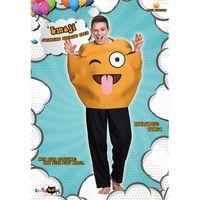 traje de sonrisa de adulto al por mayor-Cara sonriente linda disfraces para adultos diseño creativo amarillo Emoji ropa fiesta de Halloween realizar mono venta caliente 50yd C