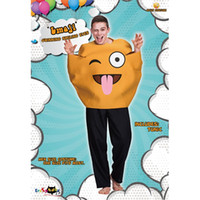 Wholesale smile clothes for sale - Group buy Cute Smiling Face Costumes For Adults Creative Design Yellow Emoji Clothing Halloween Party Perform Jumpsuit Hot Sale yd C