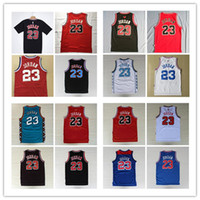 Wholesale black mesh shirts - New arrival Shirts Mens Mesh #23 Retro version Basketball Jerseys Cheap All Star Breathable Sports Jersey#23 Michael 1997-98 Top Quality