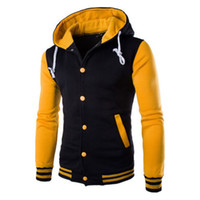 Wholesale yellow running jacket for sale - Group buy Men s Winter Slim Hoodie Sport Jacket New Striped Button Warm Sweatshirt Outwear Sweater Workout Joggers Running Jacket