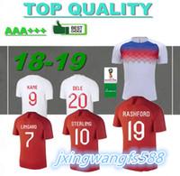 Wholesale national uniforms - 2018 World Cup KANE soccer Jersey home white National team Uniforms 18 19 DELE RASHFORD away red football shirts