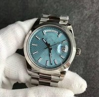 mechanical watch movements Canada - 2018 Luxury AAA Date blue face Mens Mechanical Stainless steel original Strap Automatic Movement Sports Mens Watches free shipping