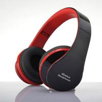 drahtloser laptop-kopfhörer mic groihandel-Neue Bluetooth NX-8252 Kopfhörer faltbare High Surround Sound Wireless Stereo Headset für Telefon Laptop Tabletten PC mit Mikrofon
